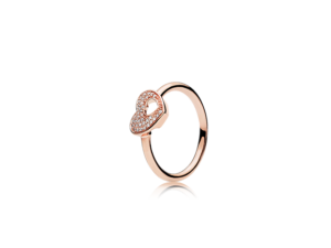 PANDORA Rose™ Shimmering Puzzle Heart Frame Ring