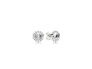 PANDORA Radiant PANDORA Logo Stud Earrings