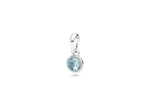 PANDORA March Birthstone Pendant