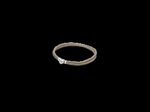 590749CGG PANDORA Fabric Cord Bracelet - Grey Green