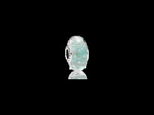 PANDORA Mint Glitter Murano Glass