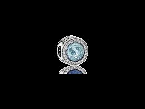 PANDORA Radiant Hearts, Glacier Blue Charm