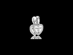 792147CZ PANDORA Hearts of Friendship Dangle Charm