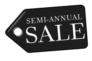 Semi Annual Sale Tag