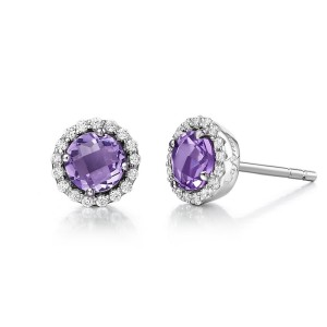 Lafonn February Birthstone Earrings