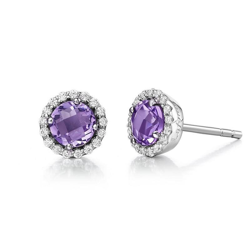 Lafonn February Birthstone Earrings