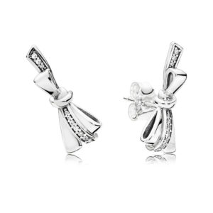 PANDORA 297234CZ Brilliant Bows Stud Earrings