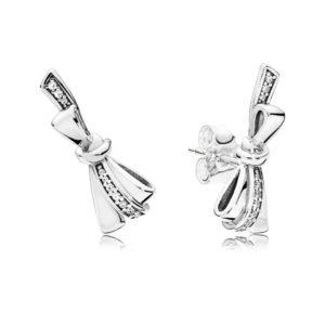 PANDORA 297234CZ Brilliant Bows Stud Earrings