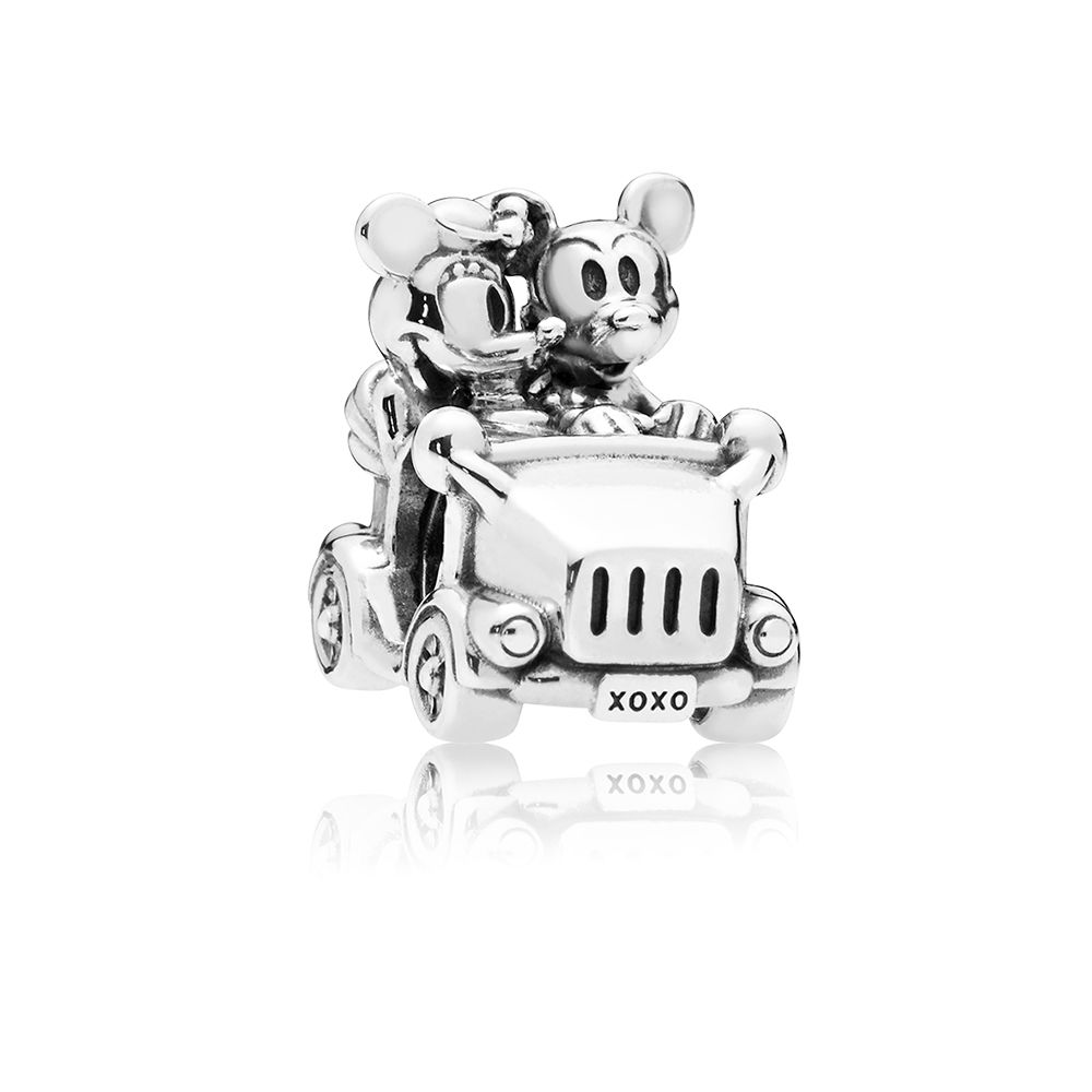 PANDORA Disney 797174 Mickey & Minnie Vintage Car Charm