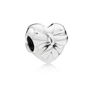 PANDORA 797303 Brilliant Heart Bow Charm
